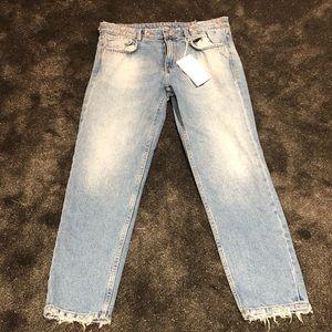 Zara brand new bling rhinestone jeans